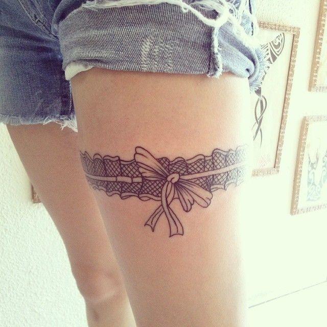 8d5dd5576 25 Sexy Garter Belt Tattoo Designs for Women | Tattoo ideas | Garter ...