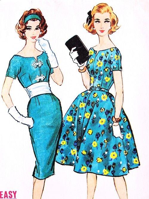 1950s DAZZLING Slim Or Full Skirt and Cummberbund Party Dress ...