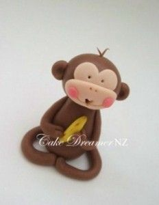 monkey fondant topper - Google Search