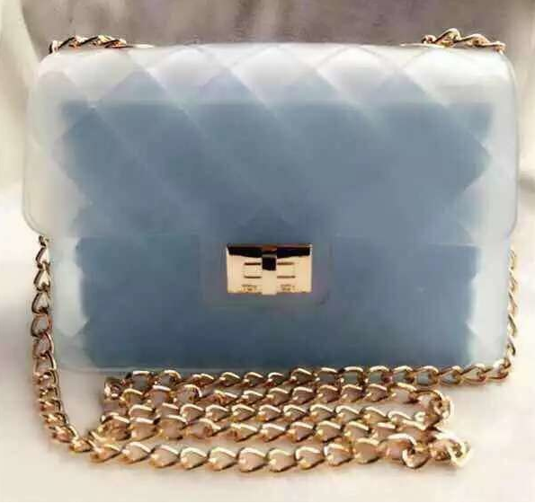 ea9e7f7b70c1 The Hong Kong tide brand jelly TOYBOY is a fashionable handbag spoof Chanel  jelly bag.