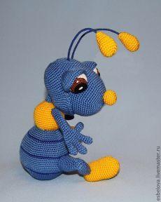 """Купить Мастер-класс по вязанию """"Мальчишка - муравьишка"""" - насекомое, насекомые, подарок на 8 марта"""