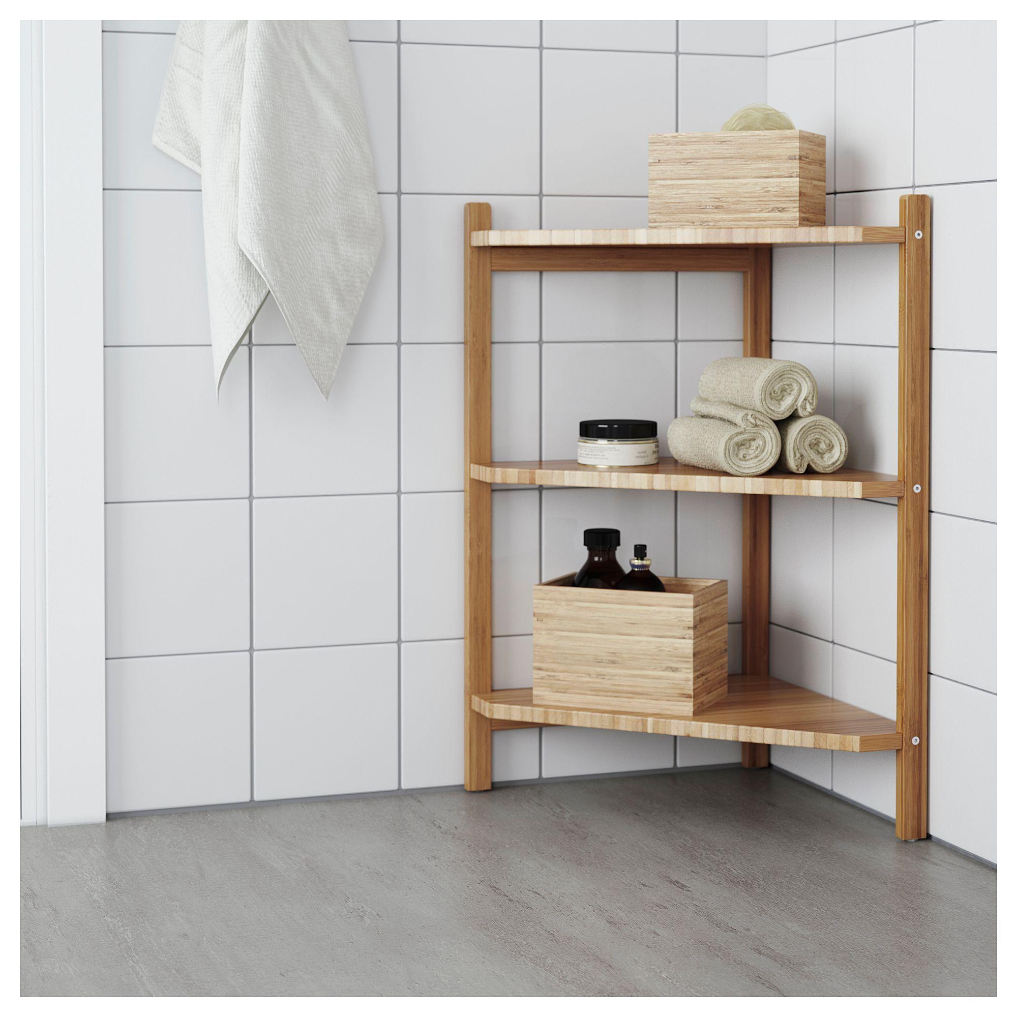 Ikea  R Grund Sink Shelfcorner Shelf Bamboo