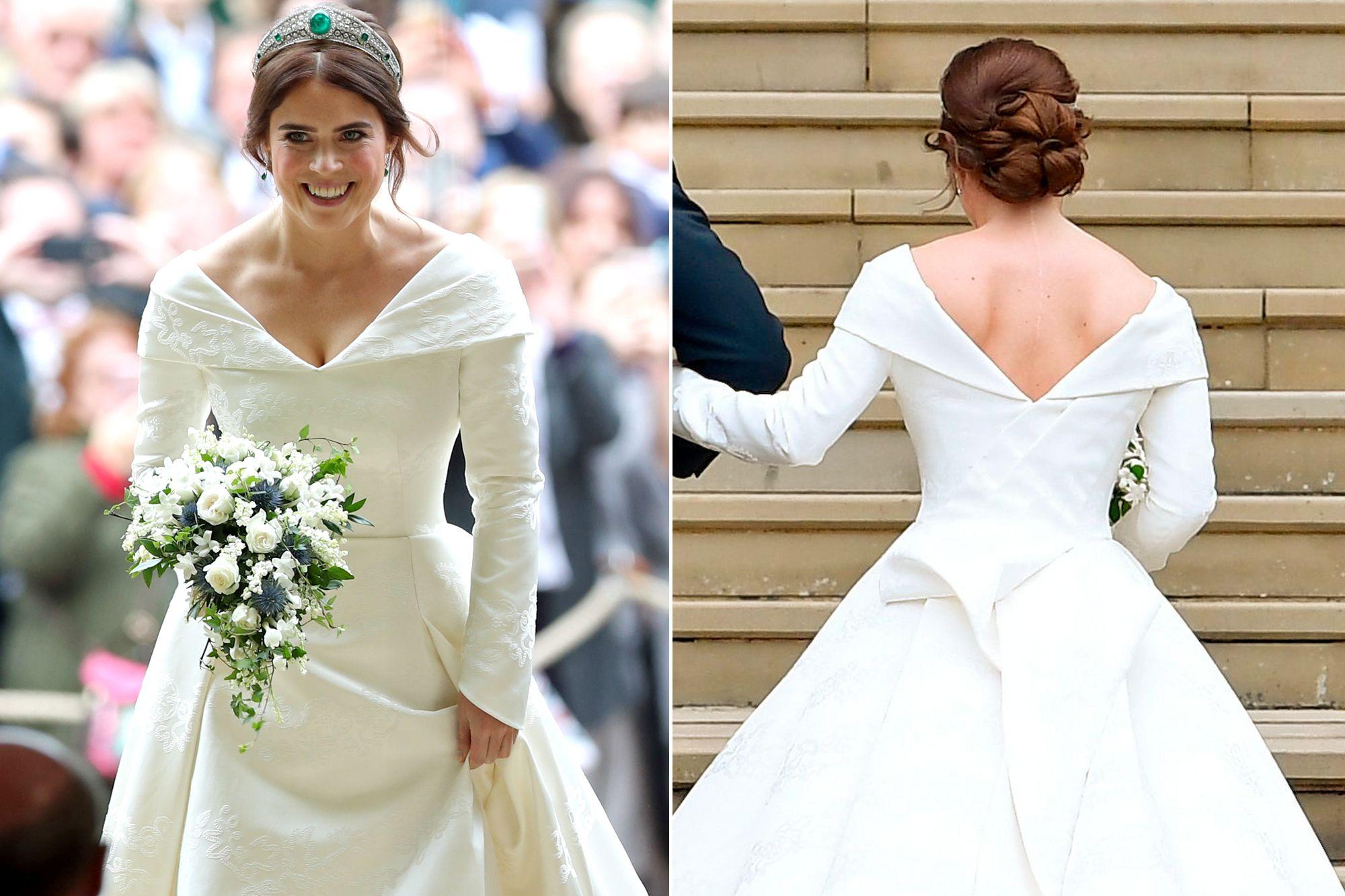 See Princess Eugenie's OpenBack Wedding Dress, Designed