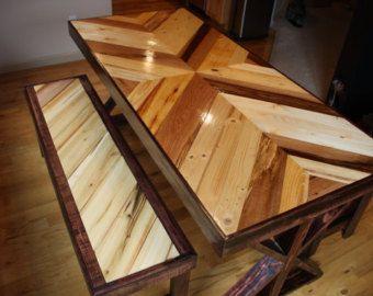 Custom Color Accented Table for suray5757 | Madera reciclada, Mesa ...