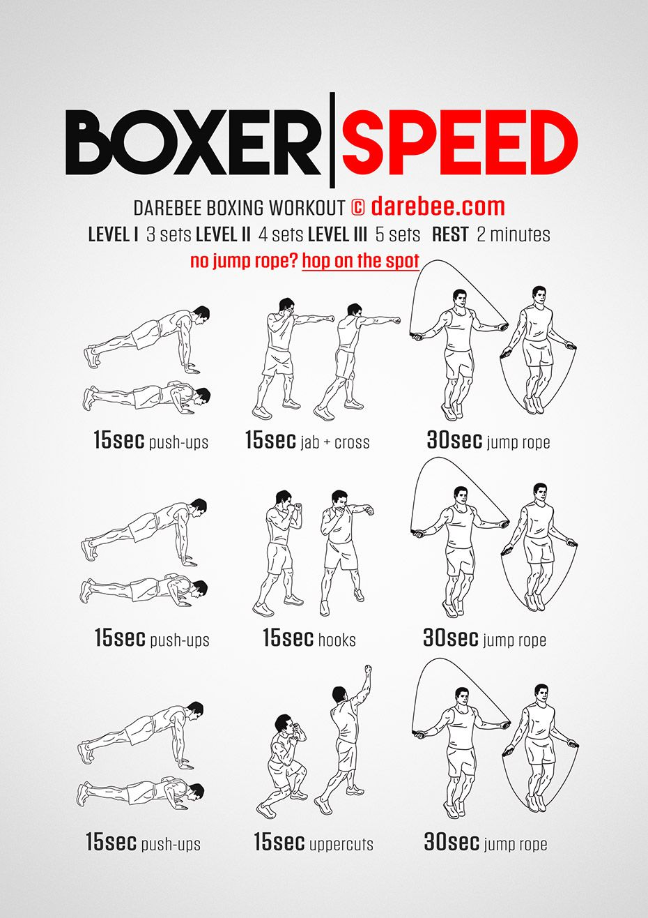 Boxer Speed Workout | Workouts | Pinterest | Workout, MMA and Exercises