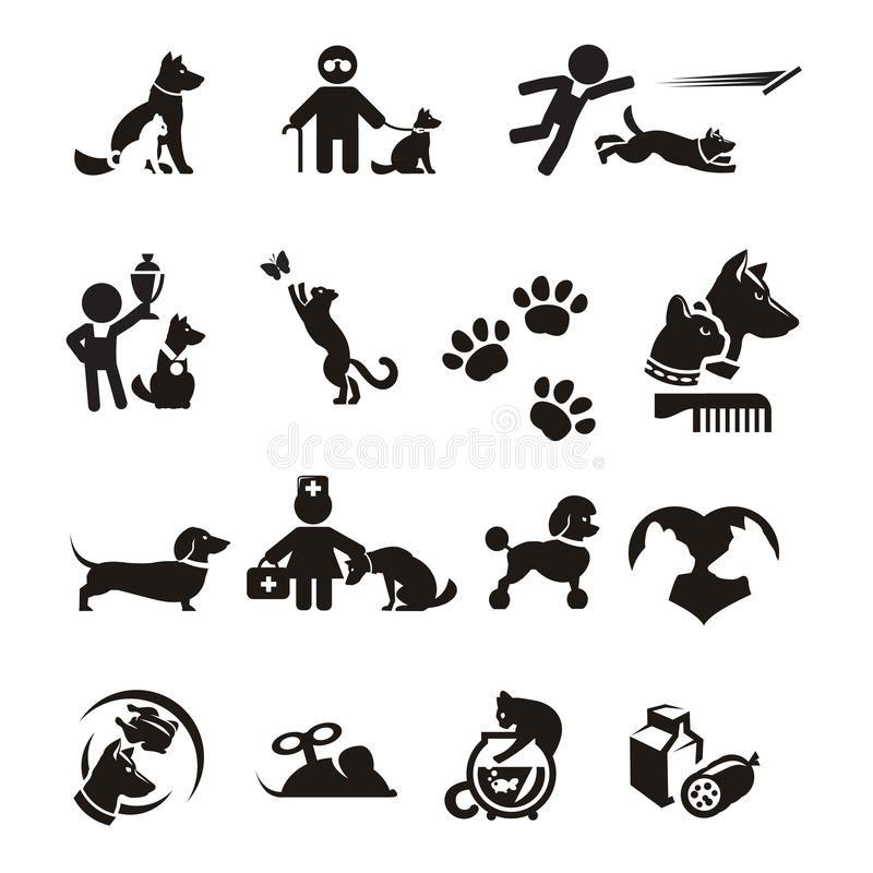 Dog And Cat Icons Set Authors Illustration In Vector Aff Icons Cat Dog Set Vector Ad Cat Icon Dog Icon Icon Set