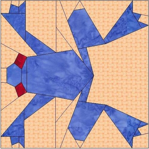ALL STITCHES - FROG PAPER PIECING QUILT BLOCK PATTERN .PDF -096A ...