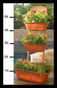 Amazon.com: Vegetable Planter | Flower Planter | Outdoor Planters   Self  Watering Red
