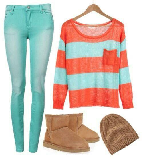 Looks comfy for the winter. Maybe change the boots to gray? Still http://cute.http://uggboots.at.vc LOVE it UGG fashion This is my dream , Click the link for best price UGG .