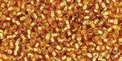 TOHO Seed Bead 15/0  SilverLined Topaz  2.5 by EarthTreasuresGems