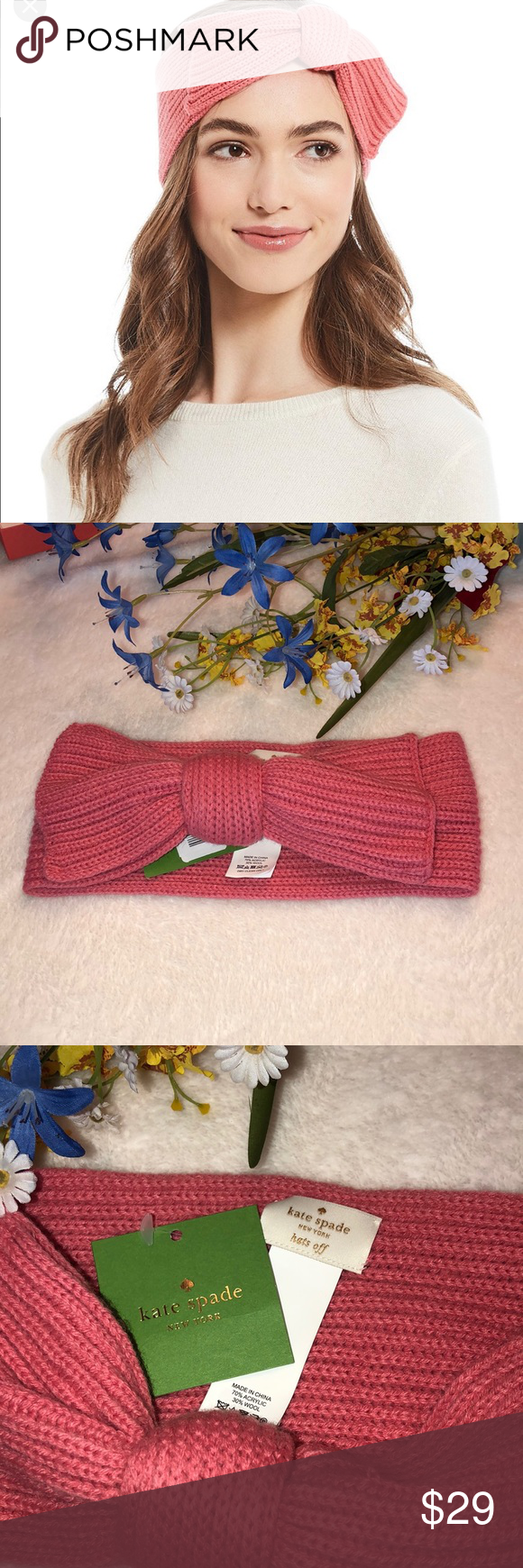 0f3f8ccefc3 Kate Spade ♤ New York Solid Bow Headband 💕Kate Spade ♤ New York Solid Bow  Headband New with tags kate spade Accessories Hats