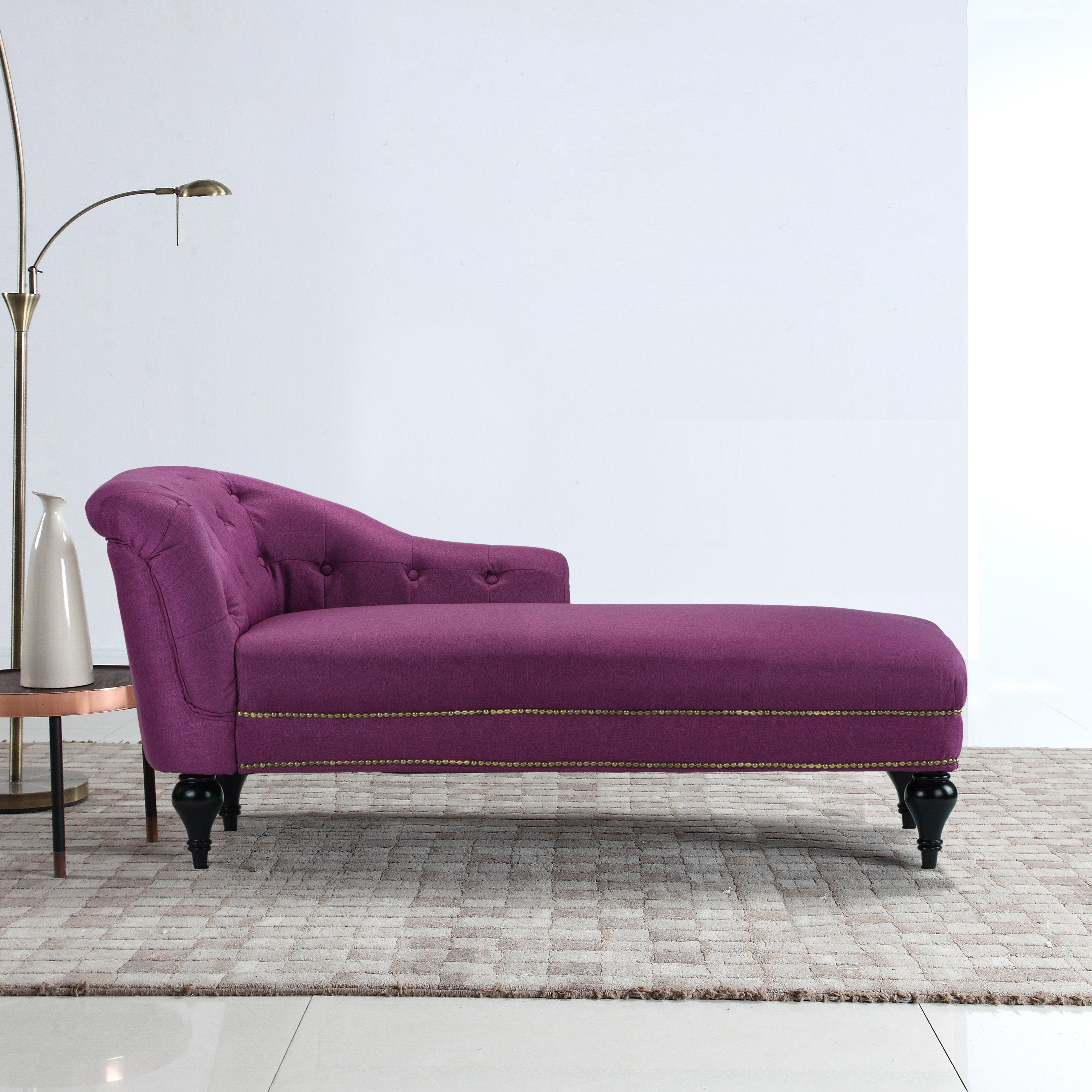 Isabel tufted chaise lounge