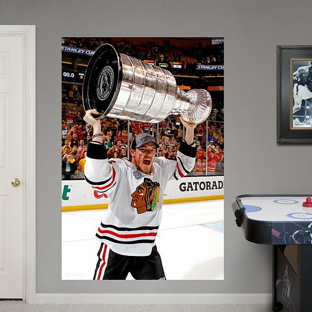 Andrew Shaw: 2013 Stanley Cup Hoist Mural Fathead Wall Graphic | Chicago  Blackhawks Wall Decal