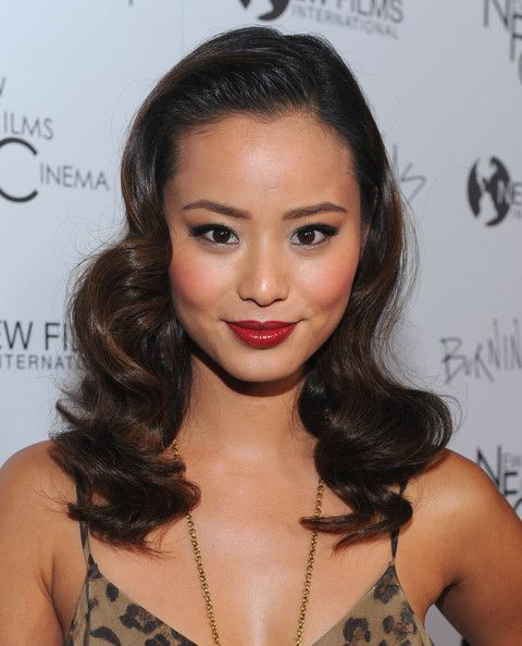 Jamie Chung Beauty Red Lipstick Makeup Looks Eye Bold