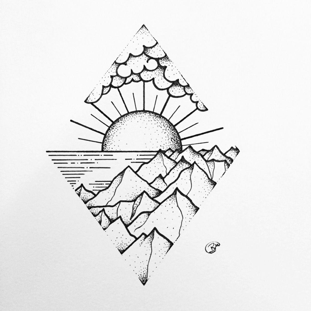 SlowPoked INKED in 2019 Doodle drawings, Easy drawings
