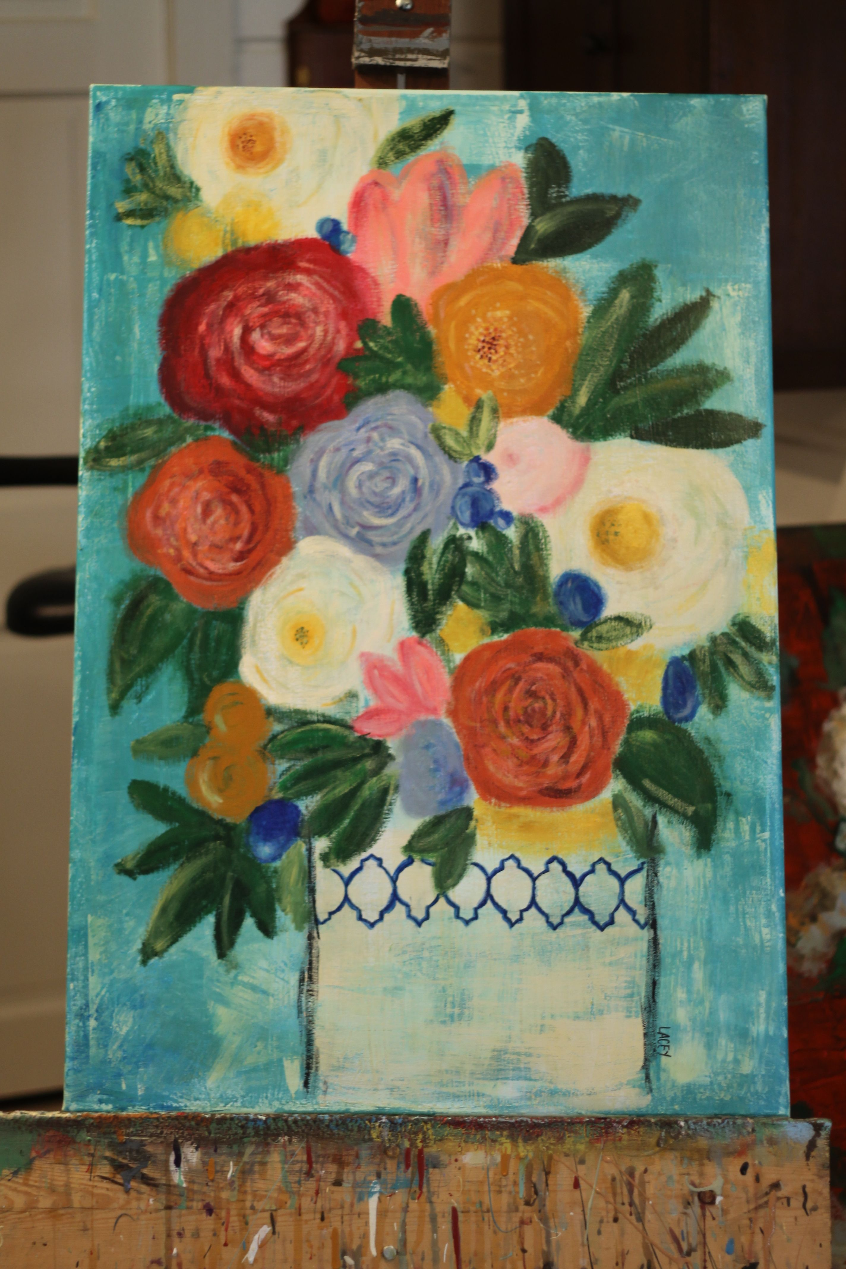 Floral painting by Lacey Craig