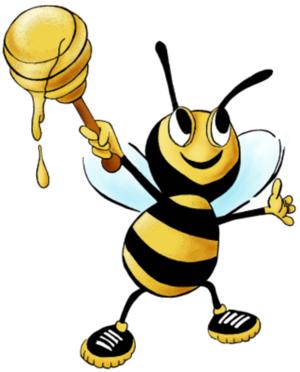 الكرتون عسل النحل صورة Motive Sticken