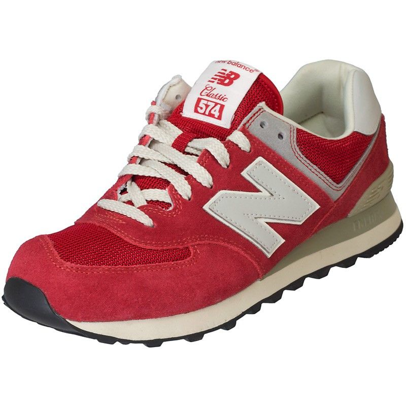 d4f0fdd699 New Balance ML 574 DRD Suede/Mesh red | Sneakers