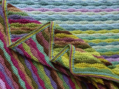 Moorland Blanket Cal Part 7 Crochet Throw Blanket Striped Blankets Blanket