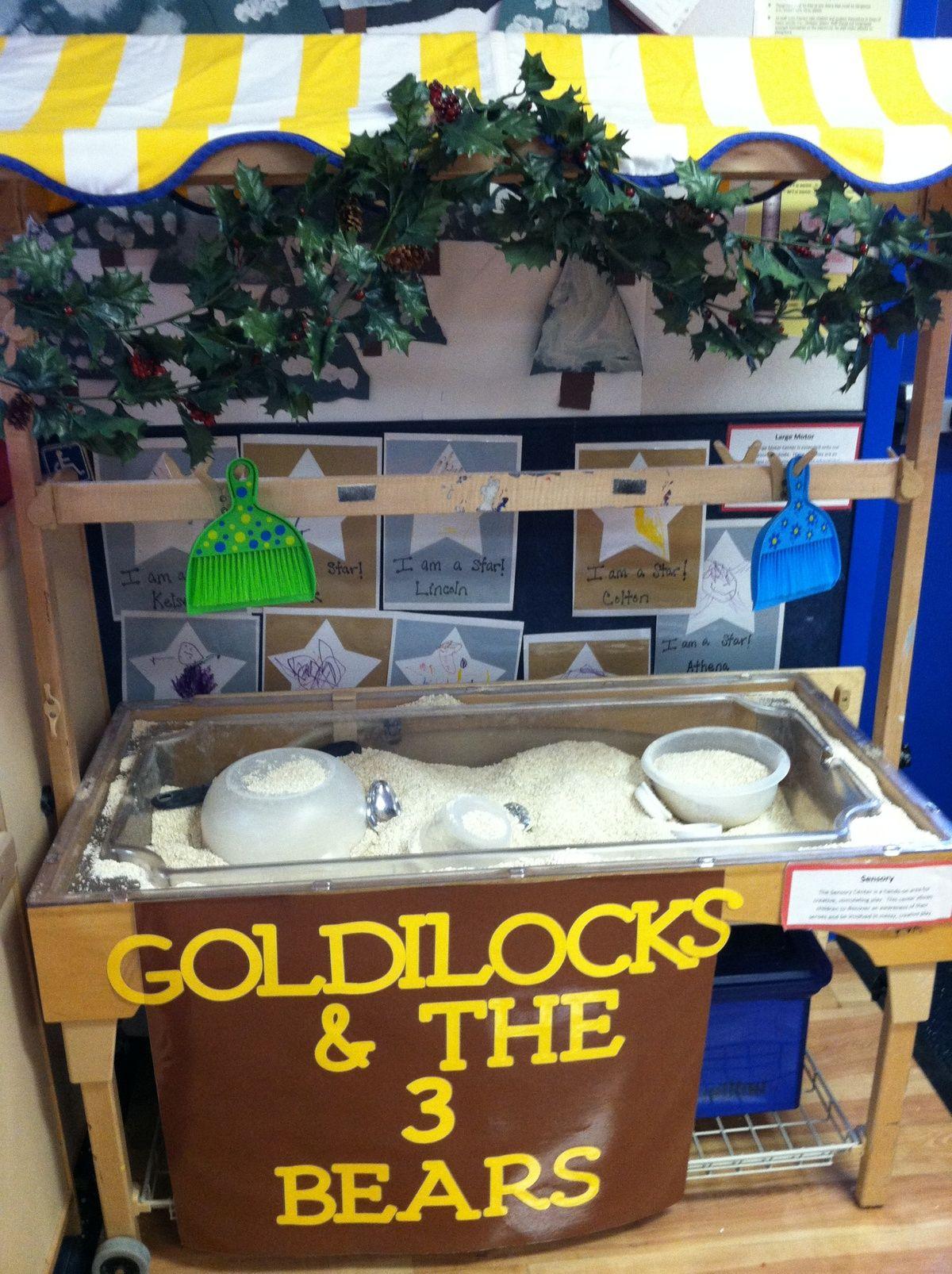 Goldilocks Sensory Bin Filled With Oatmeal Amp 3 Sizes Of