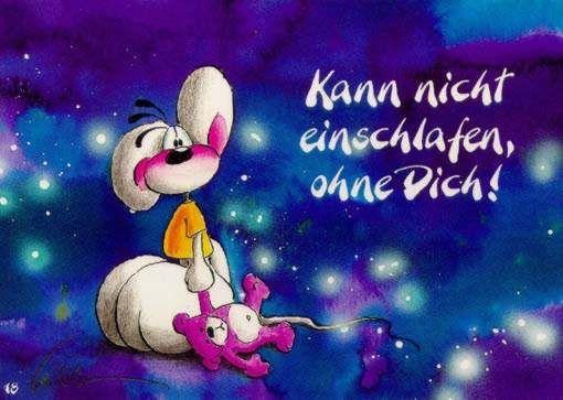Diddl - Kann nicht einschlafen ohne Dich!   Bilder, Karten