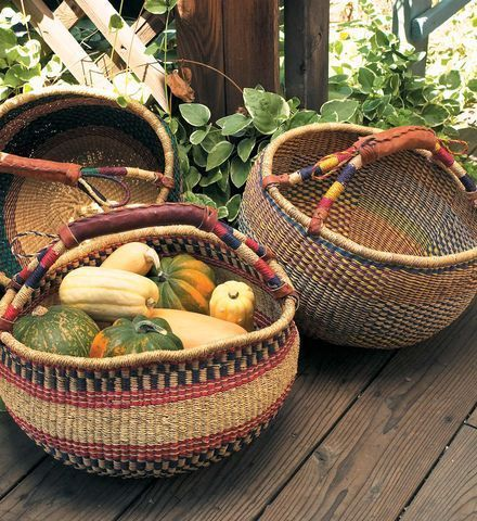 These baskets go with me everywhere. From the house to the studio to the market to a picnic. Right now, one holds all the poetry books I'm taking to my next retreat. :: Market Basket by Gaiam