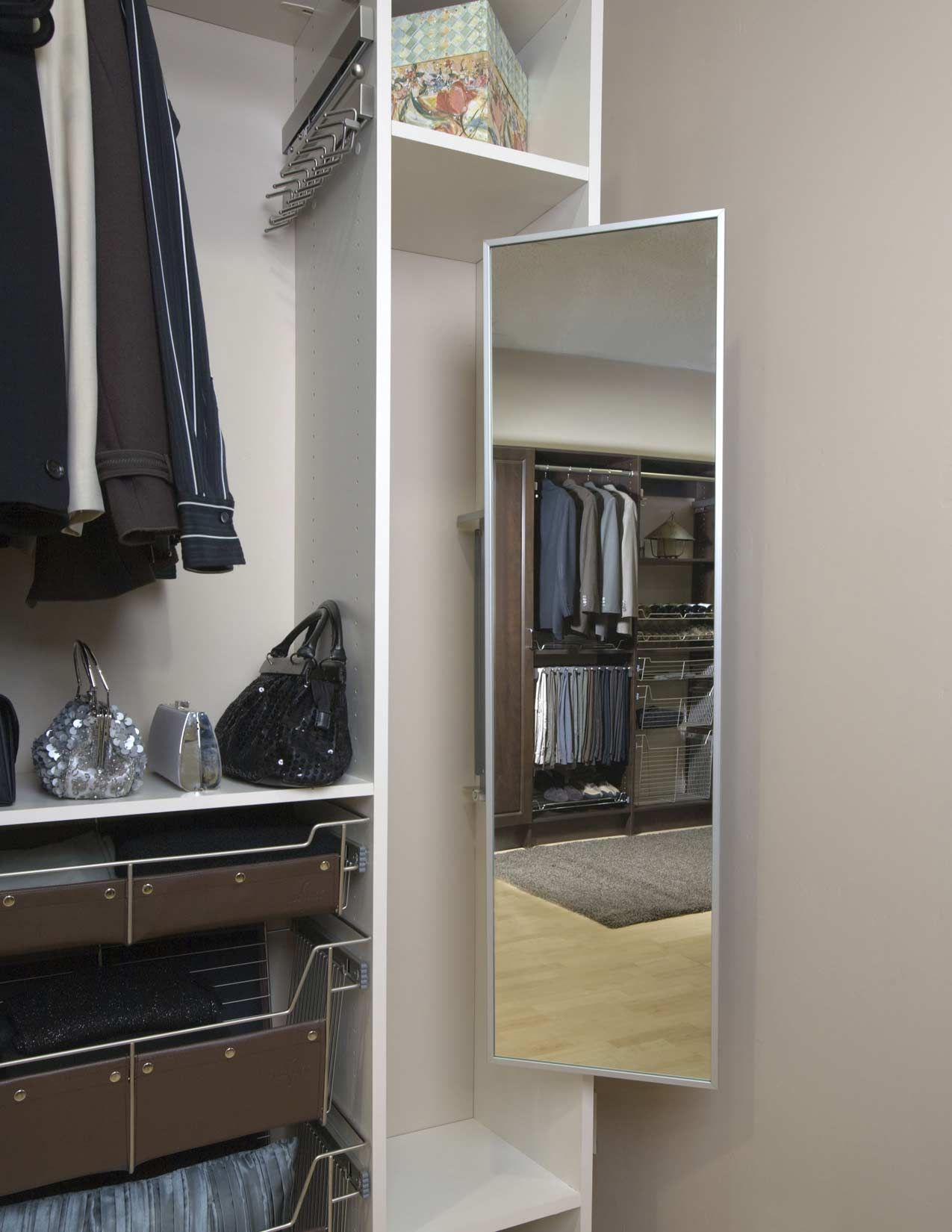 Charmant Pull Out Mirror Wardrobe Closet, Closet Space, Dress Up Closet, Closet  Shelves