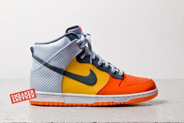 brand new 480b6 c36ab Nike Dunk High – Team Orange   Yellow   Grey Carbon Fiber