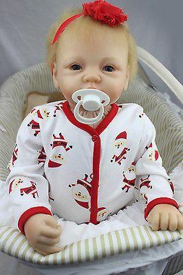 Reborn Baby Cute Girl Dolls 22 100 Handmade Real Lifelike Soft Silicone Vinyl Reborn Dolls Reborn Babies Girl Dolls