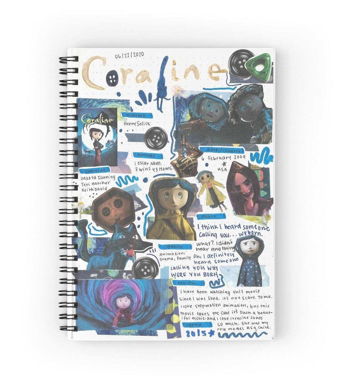 Coraline Movie Journal Spiral Notebook by liliann
