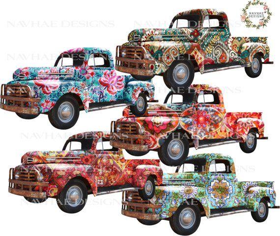 Boho Vintage Truck Png Vintage Truck Trucks