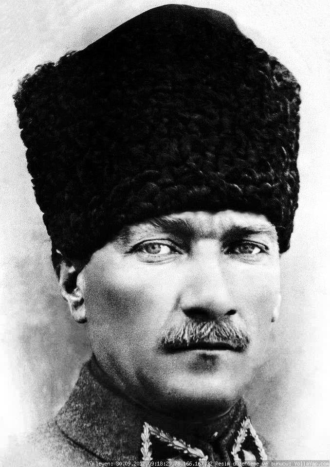 Kalpakli Ataturk Resim Portre Nadide Fotograflar