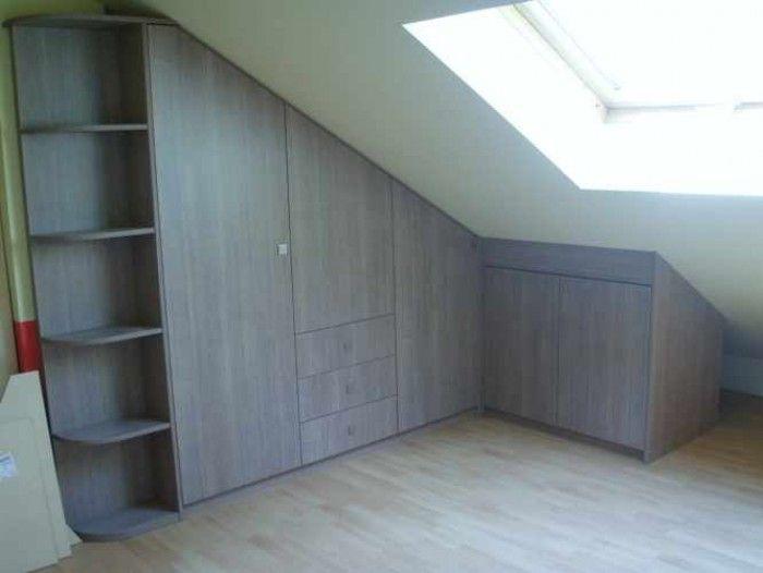kast onder schuine muur   Home idee u0026#39;s   Pinterest   DIY interior, Storage and Bedrooms