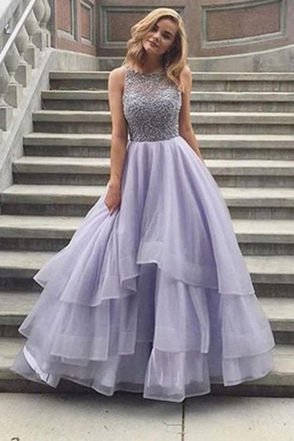 82114ec3e4 Princess A Line Boat Prom Dress