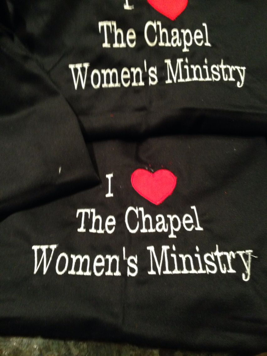 Aprons of sweet men wear to serve the ladies during the #chapelwomen/freely conference
