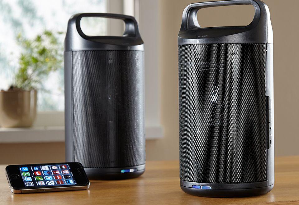 Wireless Indooroutdoor Bluetooth Speakers At Sharper Image
