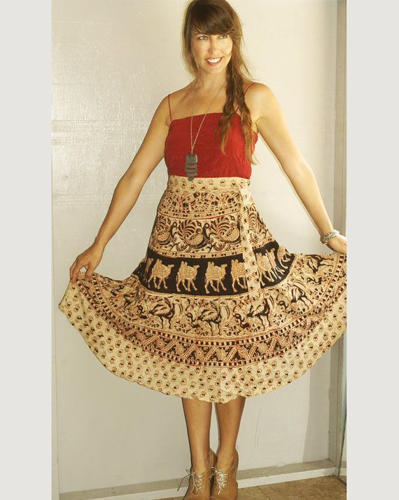 Bohemian Wrap Skirts Tumblr