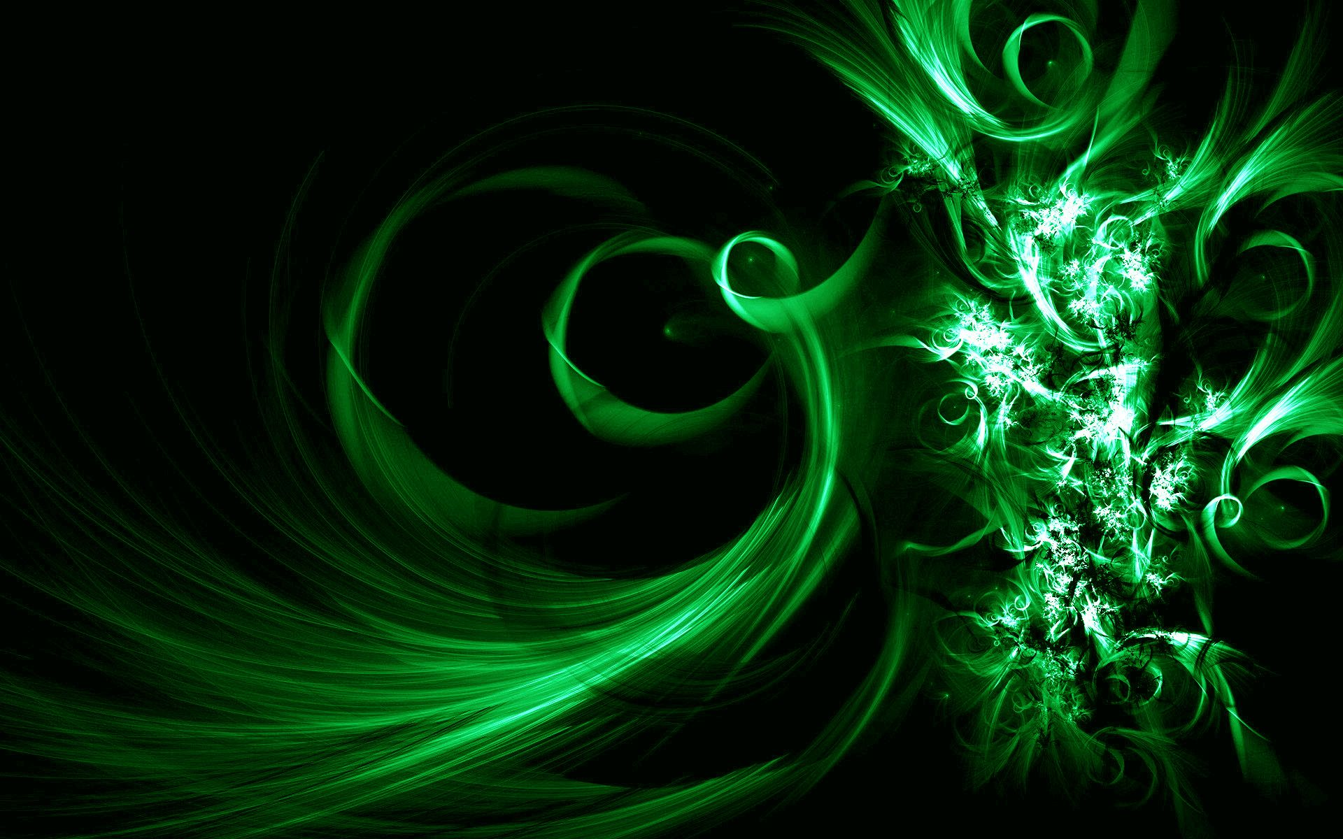 Image Description: This Is Black And Green Vector Abstract