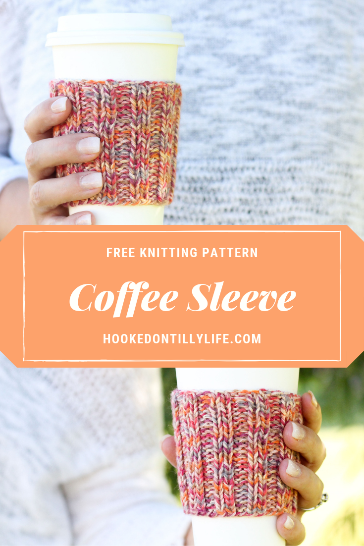Ribbed Coffee Cup Sleeve - Free Knitting Pattern — Hooked On Tilly