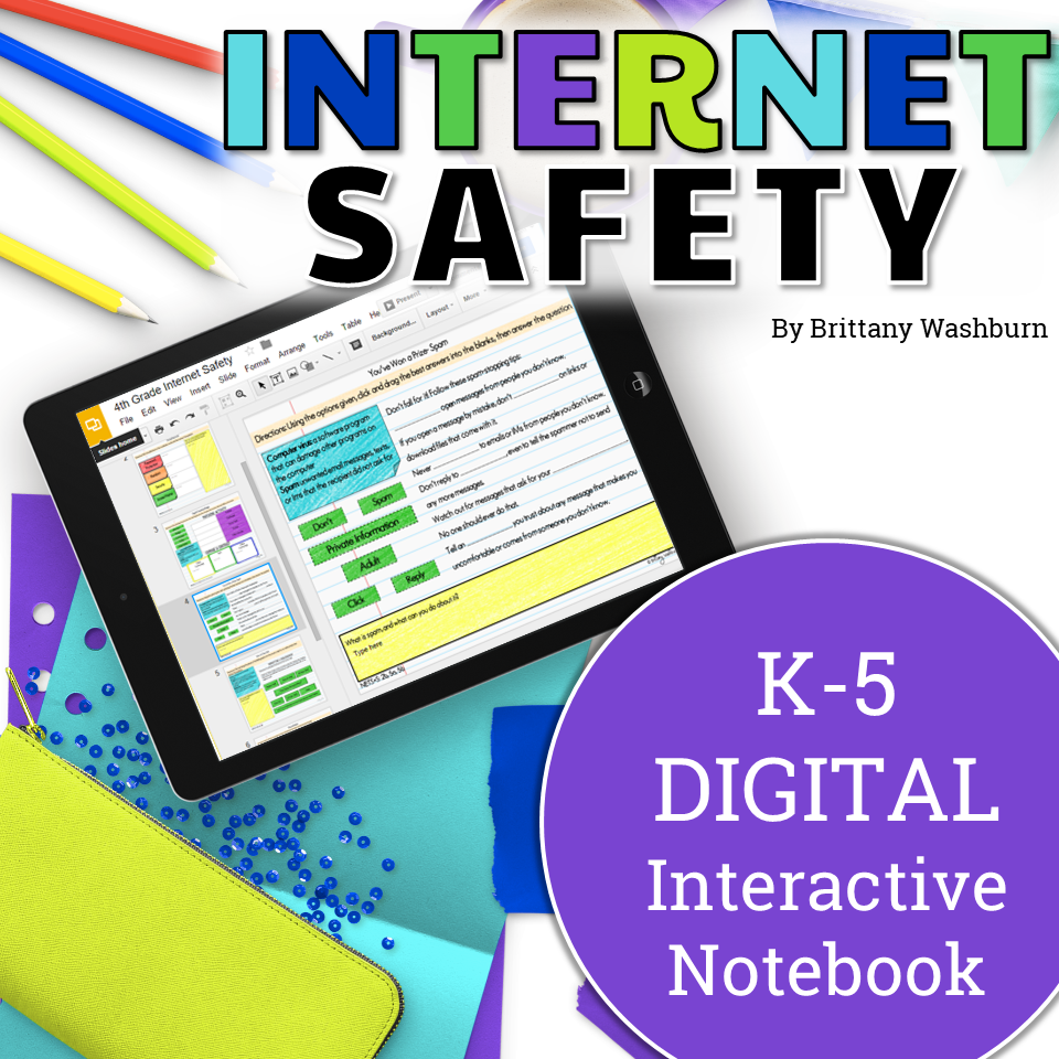 Safety Digital (Paperless) Interactive Notebook K