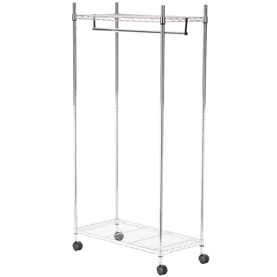 Home Depot Garment Rack Prepossessing Supreme Shelving Collection 36 Inx 7025 Insupreme Garment Rack Design Inspiration