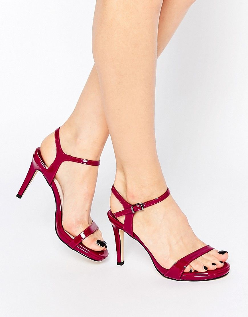 164211ec1ddb Image 1 of Faith Liberty Plum Barely There Heeled Sandals