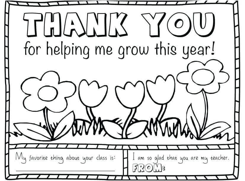 Teacher Appreciation Coloring Pages Free Trend