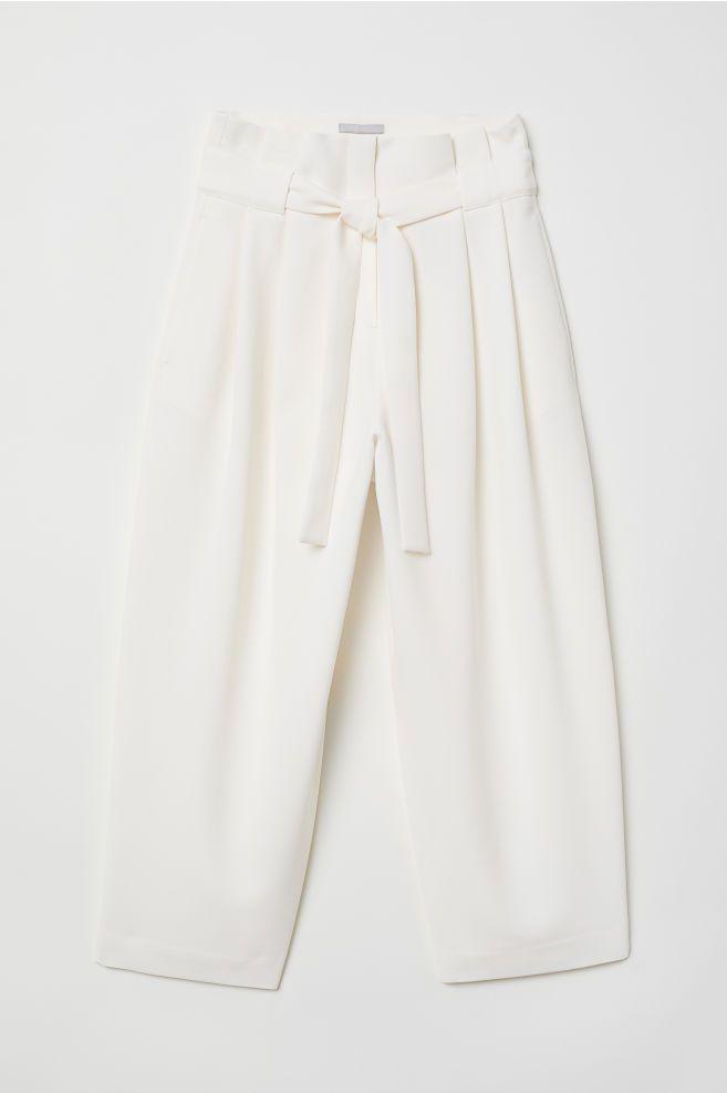 Photo of Wide-cut Pants – White – Ladies   H&M US