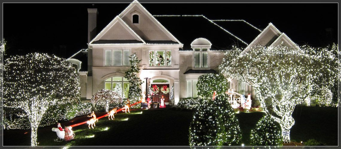 white led c9 lights white led c9 lights white led c9 lights line the roof and eaves with large white c9 bulbs and use smaller 5mm led lights to wrap trees