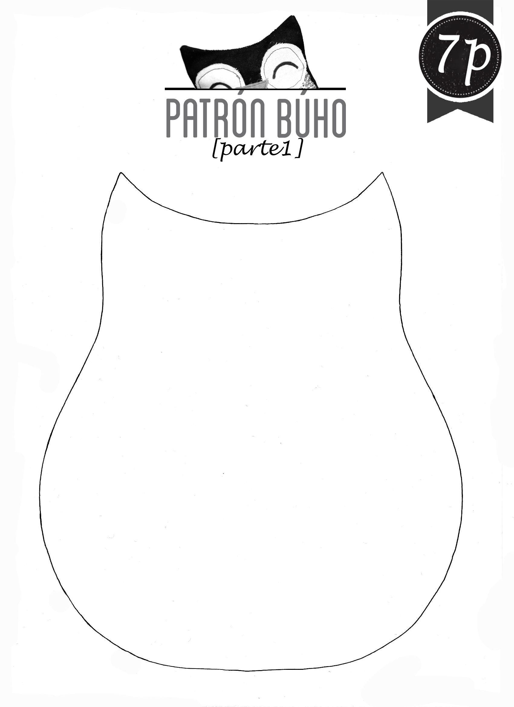 Patrones o moldes de buhos en tela - Imagui | bordado | Pinterest ...