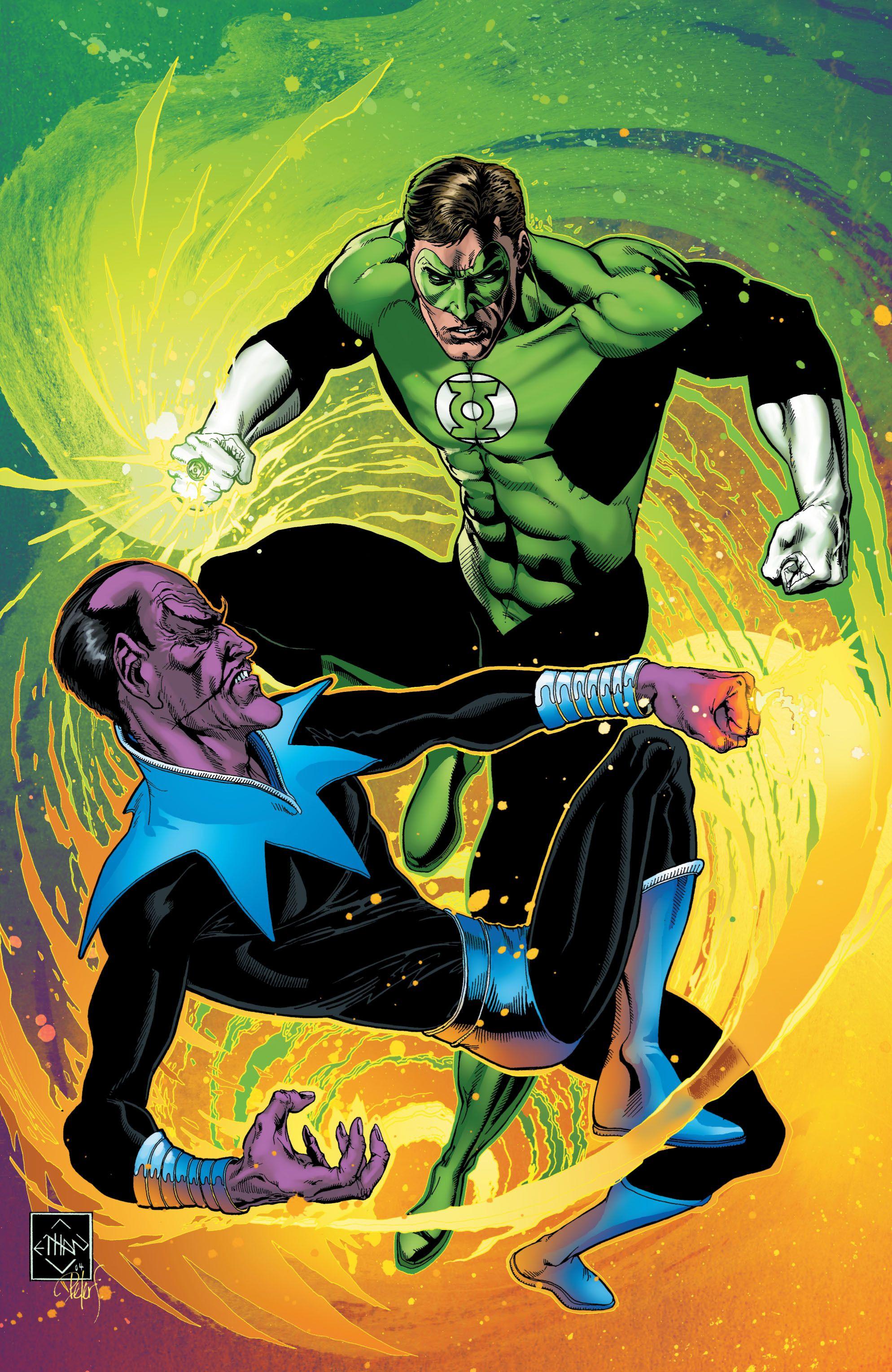 najwyższa jakość w magazynie szczegółowy wygląd Green Lantern Hal Jordan vs Sinestro by Ethan Van Sciver ...