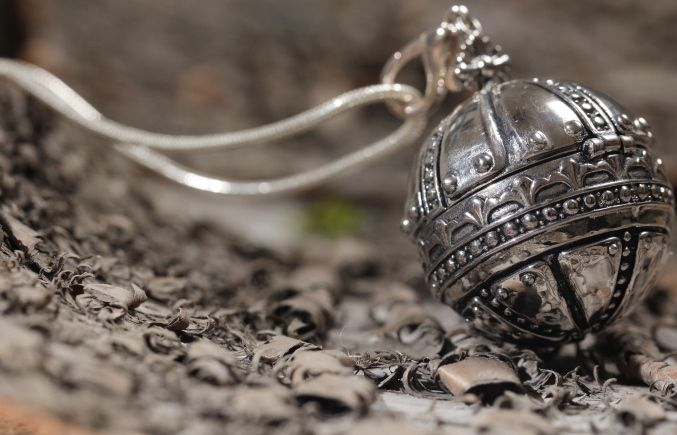 Stainless steel Globe necklace by Pranella! http://www.pranella.com/product/globe/