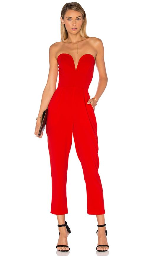 c1c3db871fe0 Shop for Amanda Uprichard Cherri Jumpsuit in Candy Apple at REVOLVE ...