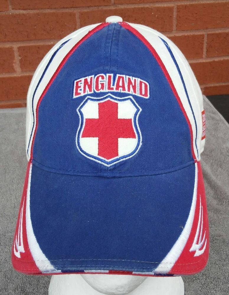 Vintage England FIFA World Cup S Africa Football Hat Cap Soccer 2010 Union  Jack  SouthAfricaFIFAWorldCup  worldcupsoccerfootball 227e844b06c